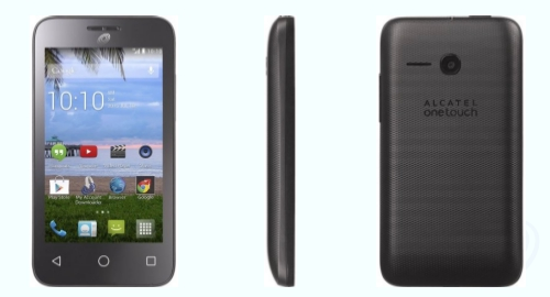 Tracfone Alcatel Pixi Pulsar (A460G) Front Back Side