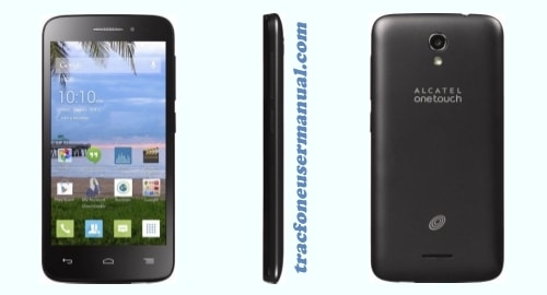 Tracfone Alcatel Pixi Charm A450TL front side back