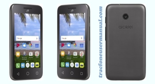 TracFone Alcatel Pixi Unite A466BG front side back