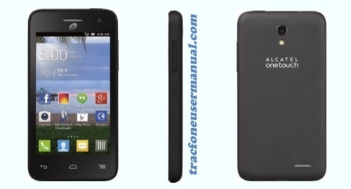 Tracfone Alcatel Pop Star A845L front side back