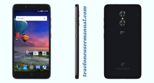 Tracfone ZTE Max Duo Z962BL / Z963VL front side back