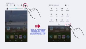 TracFone LG Fiesta Notification Panel