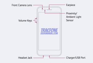 TracFone LG Rebel 2 Front View