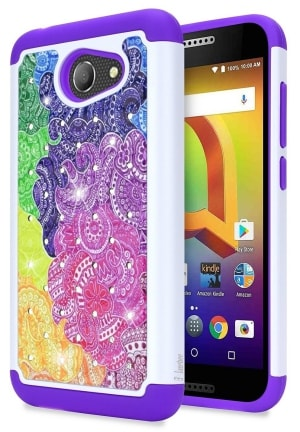 Alcatel ZIP Diamond Glitter Case by NageBee