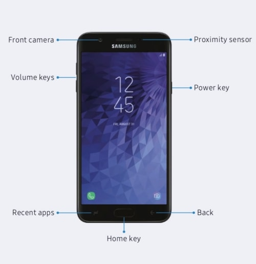 Galaxy J7 Crown Front View