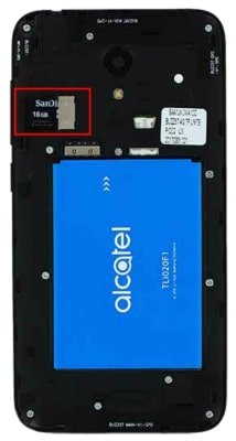 How to Insert Memory Card in Alcatel Raven
