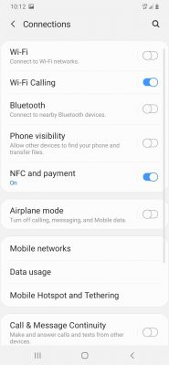 Samsung Galaxy A20 Connections
