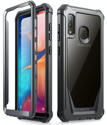 Galaxy A20 Rugged Clear Case by Poetic